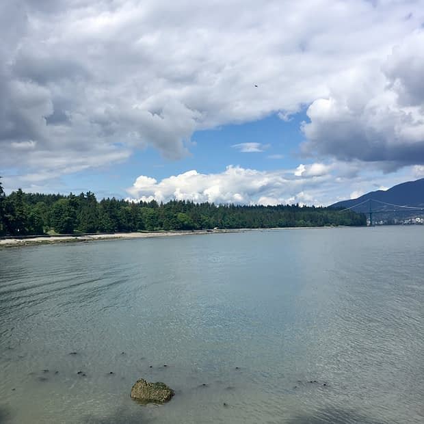 One of many gorgeous views from our Seawall run.